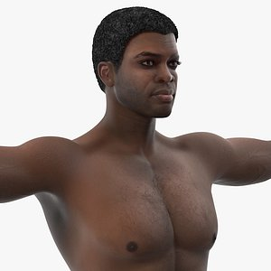 3D african american man rigged