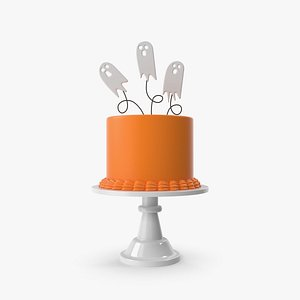 3D Halloween Cake with Ghost Topper