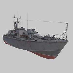 3D torpedo boat project model