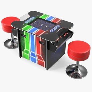 3D ArcadePro Mars 55 Cocktail Arcade Machine with Stools