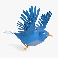 Animated Cartoon Bluebird
