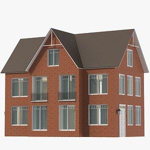 3D Classic House 01 model