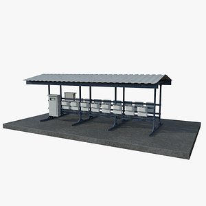 3D Electrical Station model