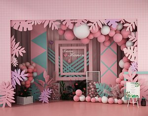 wedding balloon lobby 3D