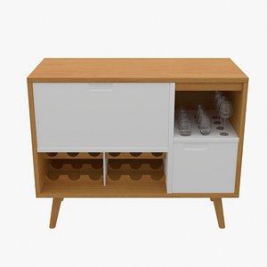 3D Modern Bar Cabinet model