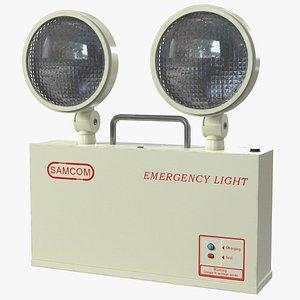 twin head emergency light 3D model
