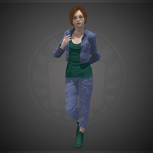 3D character people human
