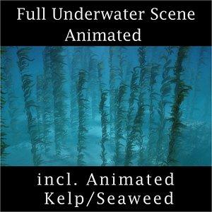 3D photorealistic water seaweed