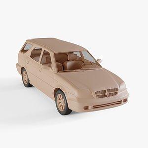1999 Suzuki Baleno kombi 3D model