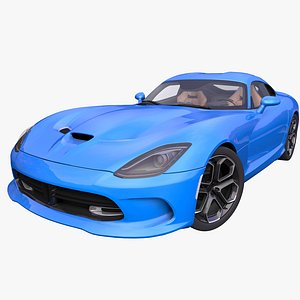 3D generic american supercar interior car model
