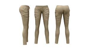 Harem Pants Front Tied 3D