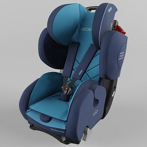 3D Recaro Young Sport Hero Children Car Seat Core Xenon Blue