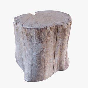wood chopping block 3D model