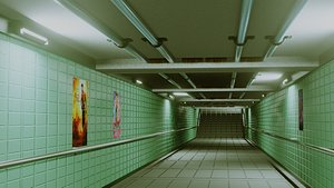 Subway Under pass - Low poly - Game ready model