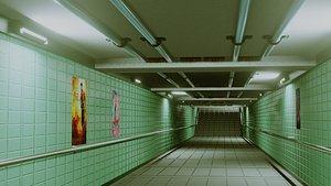 3D model subway pass ready