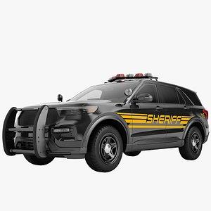 3D Police Car SUV Generic 06