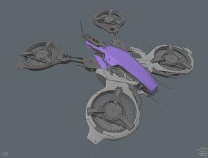 3D concept drone model