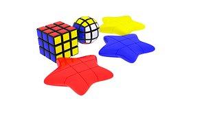 3D Different Shapes of Rubik's Cube Set