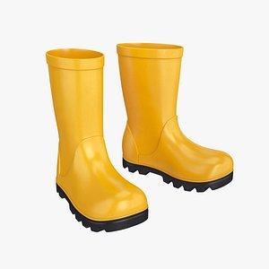 rubber boots 3D