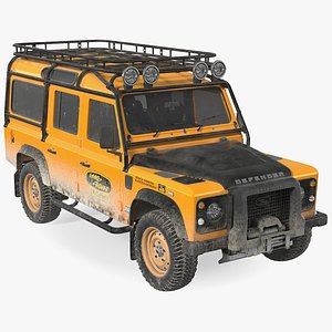 3D model Land Rover Defender Works V8 Trophy Dirty Rigged
