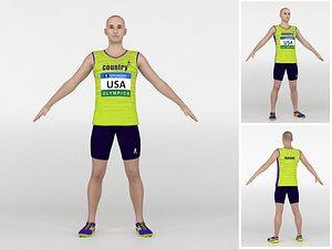 Athlete Runner 01 3D model