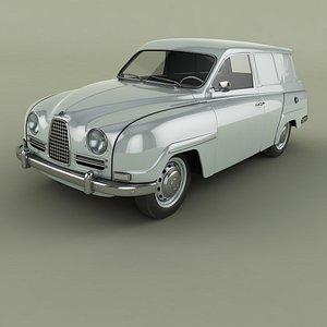 SAAB 95 Van 3D model