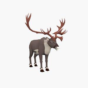 Cartoon Elk 3D model