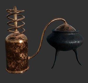 3D Small Copper Distiller