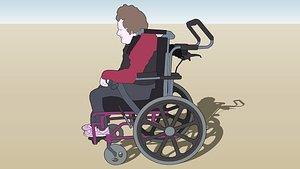 3D Wheelchair-Josie - Entourage