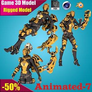 robot ninja 3D model