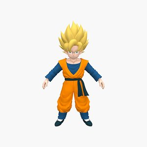 Little Goku 3D model