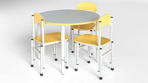 table chairs children furniture model