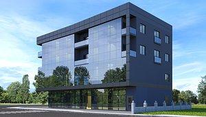 modern building residential 3D model