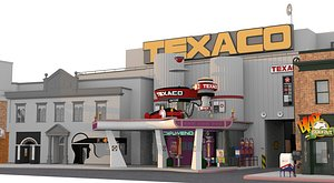 Hill Valley 2015 – Texaco, Alley, 7elven, The bot Shoppe, Bottoms Up and Surrogate Parenting Center