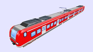 german passenger train class 3D model