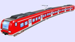 german passenger train class 3D model