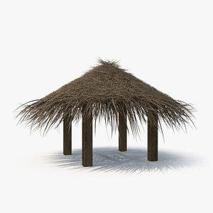 3D model Straw Beach Tent