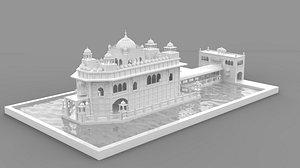 Golden Temple 3d Model 3D model