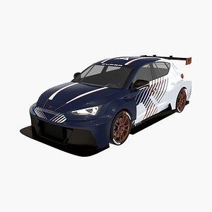 3D seat leon cupra e-racer model