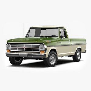 3D Ford F100 Ranger 1967
