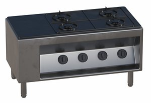 3D Flush Cooktop with Gas
