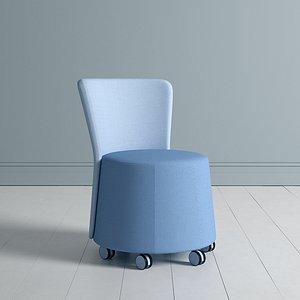 chair seat ottoman 3D model