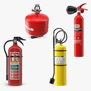 extinguisher 2 fires 3D model