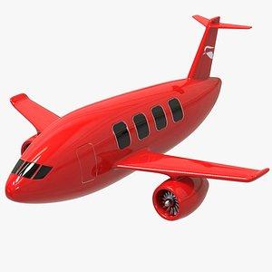 3D plane cartoon