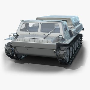 3D tracked transporter gaz-71