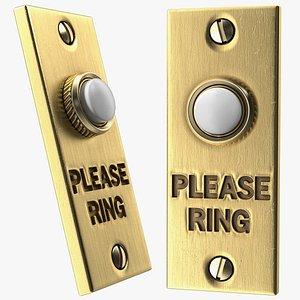 doorbell gold door bell 3D model