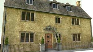 3D english village cottage