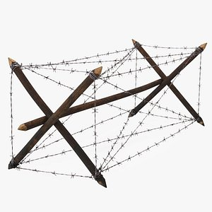 rest barbed wire obstacle 3D model