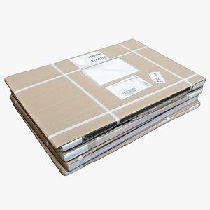 Cardboard Box 09 3D model