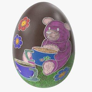 Easter Egg Chocolate Teddy Bear 3D model
